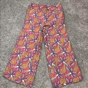 Ann Taylor Loft Capri Wide Leg Palazzo Pant Size 4